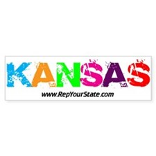 Colorful Kansas Bumper Bumper Sticker
