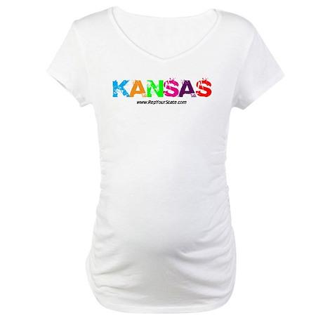 Colorful Kansas Maternity T-Shirt