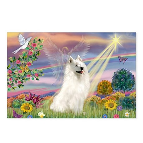 Cloud Angel & Samoyed Postcards (Package of 8)