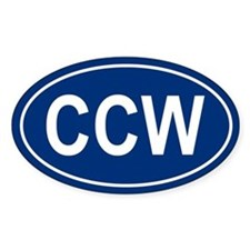 CCW Oval Bumper Stickers