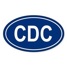 CDC Oval Decal