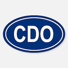 CDO Oval Decal
