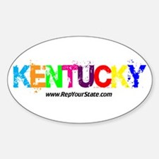 Colorful Kentucky Oval Decal