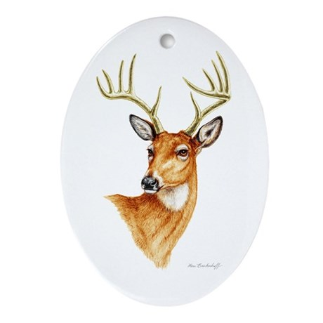 Whitetail Deer ~ Oval Ornament