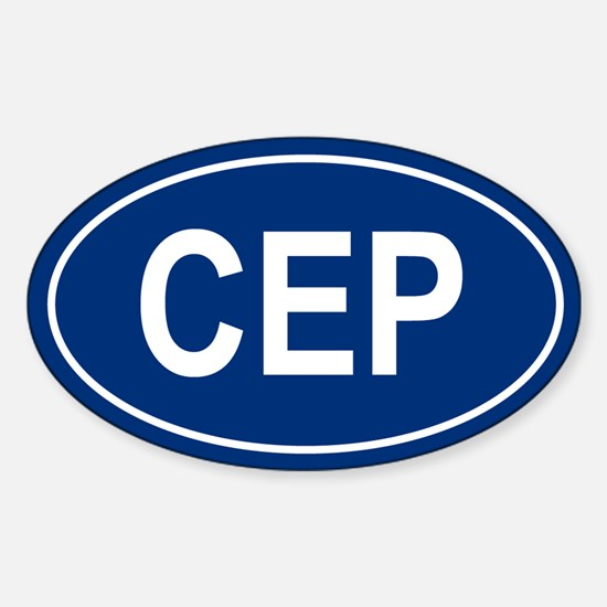CEP Oval Decal