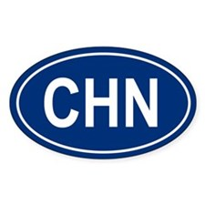 CHN Oval Decal