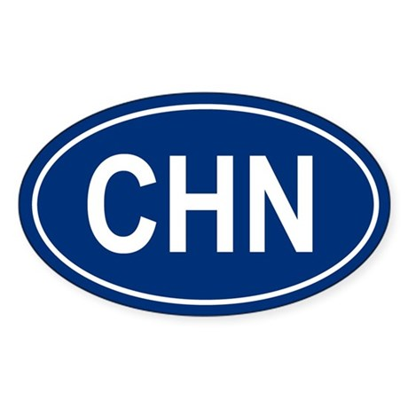 CHN Oval Sticker