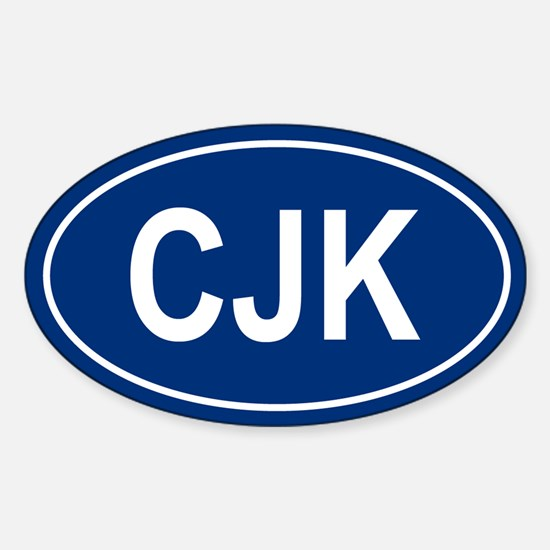 CJK Oval Decal