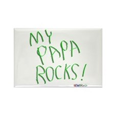My Papa Rocks ! Rectangle Magnet