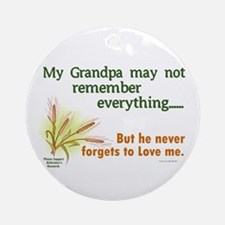 Never Forgets To Love 2 (Grandpa) Ornament (Round)