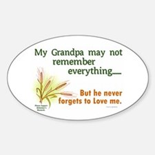 Never Forgets To Love 2 (Grandpa) Oval Decal