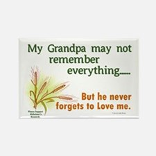 Never Forgets To Love 2 (Grandpa) Rectangle Magnet