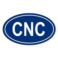 CNC Oval Bumper Stickers