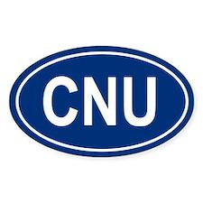 CNU Oval Bumper Stickers
