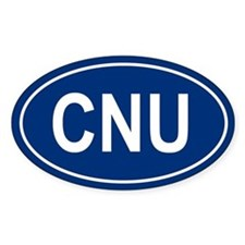 CNU Oval Decal