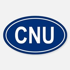 CNU Oval Decal