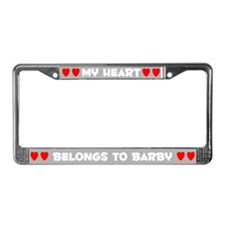 My Heart: Barby (#006) License Plate Frame