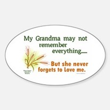 Never Forgets To Love 2 (Grandma) Oval Decal