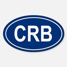 CRB Oval Decal