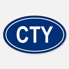 CTY Oval Decal
