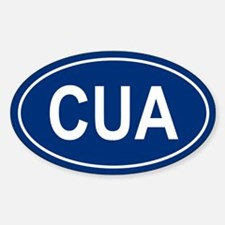 CUA Oval Decal