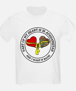 Part of my Heart - Afghanistan Kids T-Shirt