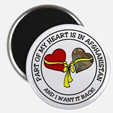 """Part of my Heart - Afghanistan 2.25"""" Magnet (10 pa"""