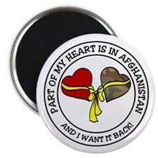 Part of my Heart - Afghanistan Magnet