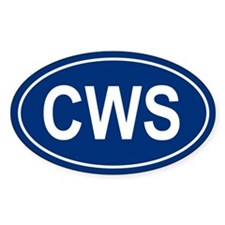 CWS Oval Decal