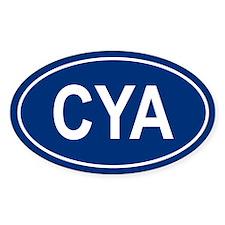 CYA Oval Decal