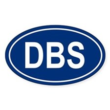DBS Oval Decal