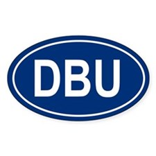 DBU Oval Bumper Stickers