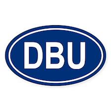 DBU Oval Decal
