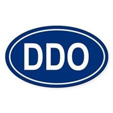DDO Oval Decal