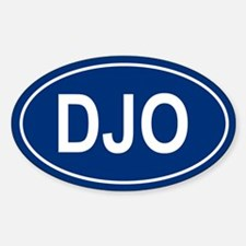 DJO Oval Decal