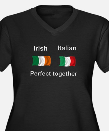 Italian Irish Together Women's Plus Size V-Neck Da