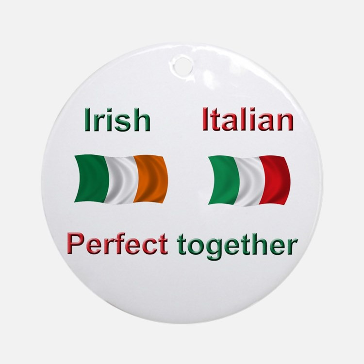 Italian Irish Together Ornament (Round)
