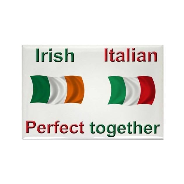 Italian Irish Together Rectangle Magnet by luvletters