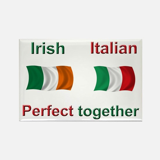 Italian Irish Together Rectangle Magnet