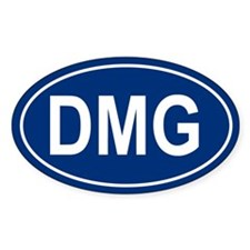 DMG Oval Decal