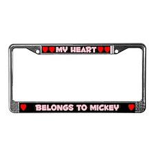 My Heart: Mickey (#002) License Plate Frame