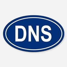 DNS Oval Decal