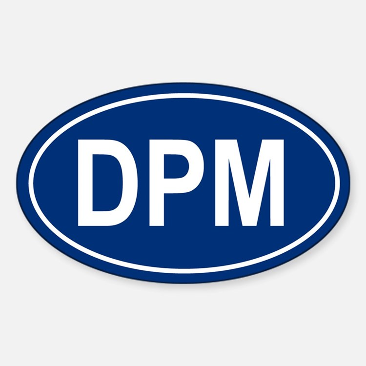 DPM Oval Decal