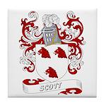 Scott Coat of Arms Tile Coaster