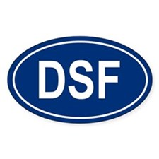 DSF Oval Decal