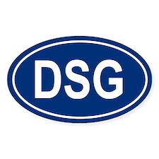 DSG Oval Bumper Stickers