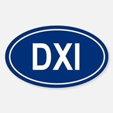 DXI Oval Decal