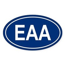 EAA Oval Bumper Stickers