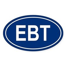 EBT Oval Bumper Stickers