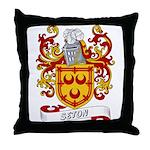 Seton Coat of Arms Throw Pillow